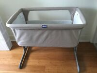 Chicco Next 2 Me Dove grey used for sale. Very good condition