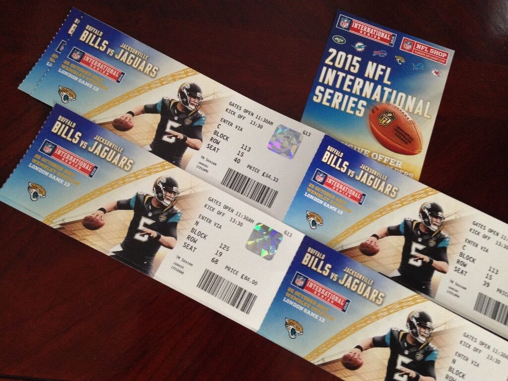 below cost nfl london tickets jaguars vs bills 25th oct wembley superb seats in two. Black Bedroom Furniture Sets. Home Design Ideas