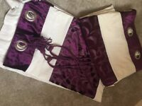 4 x Pairs of Curtains, excellent condition with tie backs