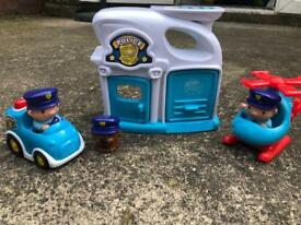 Toy Police Station & Figures