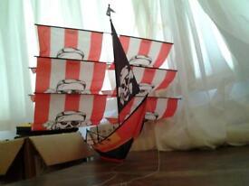 Large 3D Model Hanging Pirate Ship Decoration for Nursery / Children Room