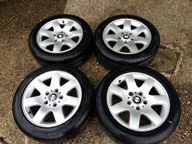 BMW 318I ALLU. WHEELS AND TYRES.205/55 R16 91V