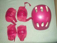 Helmet and knee pads
