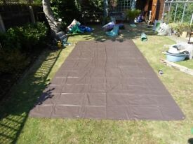 Ground sheet with eyelets. P.V.C. 7ft x 14ft