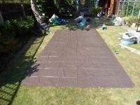 Ground sheet with eyelets. P.V.C. 7ft x 14ft