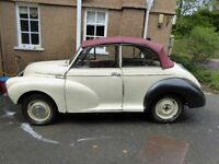 Genuine Convertible Morris Minor 1960 (on 62 plate) 60% restored