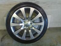 ALLOYS X 4 OF 20 INCH GENUINE RANGEROVER AUTOBIOGRAPHY FULLY POWDERCOATED INA STUNNING SHADOW CHROME