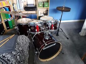 Ludwig Element Drum Kit - Excellent 5 piece starter kit with ride cymbal