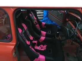race harnesses 4/5 point rsa pair pink