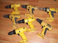 Dewalt drills x7 , for parts
