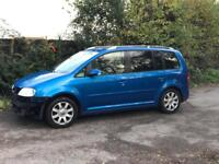 2005 VW TOURAN 2.0 TDI 6 SPEED SPORT 7 SEATER
