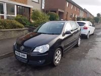 2009 Volkswagen Polo 1.2 Match 5dr, 70 bhp, 102900 Miles, 11 Month MOT, Black, Manual
