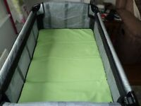 Unisex Mothercare travel cot in excellent condition with carry bag and instructions.