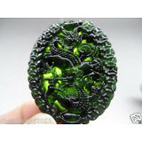 BEAUTIFUL-CHINESE-NATURAL-GREEN-COLOR-JADE-CARVED-JADE-PENDANT-Dragon