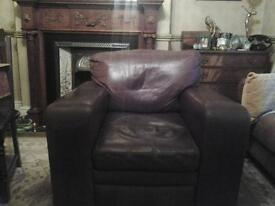 Lovely brown leather armchair