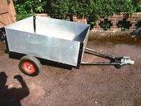 Aulluminium and steel trailer 55 X 42 ( 140 x 107) Strong welded steel frame