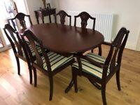 Mahogany Dining Table & Chairs.