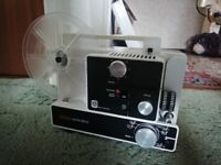 eumig mark 610 D projector. with screen and accessories.