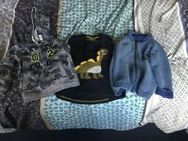 2x boys Jackets 1x Boys Jumper 12-18 months.