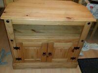 TV / entertainment cabinet unit wood pine
