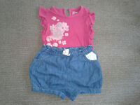 Girls' t-shirt and shorts age 2