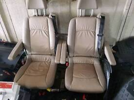 2x mercedes viano lather seat