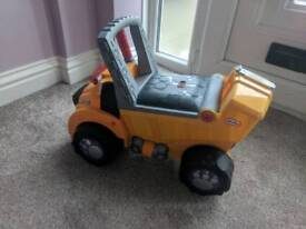 Little Tikes sit on Digger