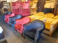 Chairs - Quality Extra Comfy Velvet / Studded Design Chairs