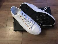 White leather converse BNIB