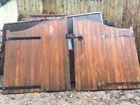 Timber estate gates