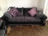 Beautiful Fabric/Leather Sofa Set