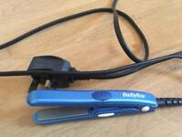 Mini BaByliss hair straighteners
