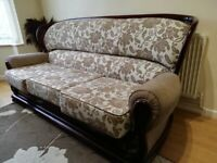 Real Wood Fabric Sofa for Sale - Hardly Used