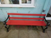 Solid very heavy, possibly cast iron bench, ideal for garden or pubs will need 3 strong men to lift