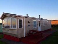 Static caravan with sea view on quiet site in Cullen, Moray