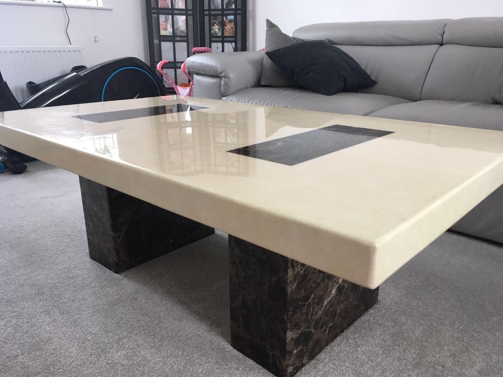 dfs solid marble strasbourg coffee table   in peterborough
