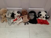 6 kids plush hand puppets *collection only*
