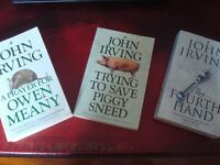 3 x BOOKS BY JOHN IRVING - VERY GOOD/EXCELLENT CONDITION