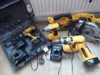Dewalt power tool set 18v.
