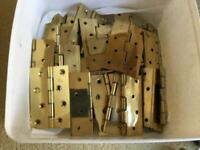 Brass door hinges (41) and bag of screws