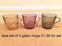 Glass mugs ikea