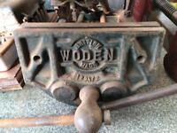 Woden antique wood vice