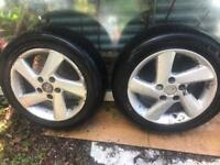 Set of 4 alloy wheels and tyres from a Mazda 6 size 205/55/r16