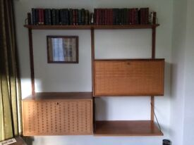 Retro drinks cabinet and shelves