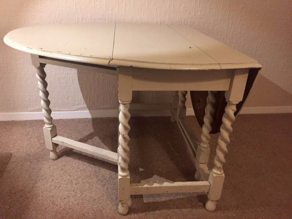 Antique folding dining room table in east london london gumtree