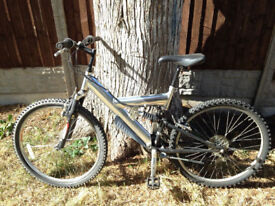 bike in good condition with double suspension, ideally for 10-14 yr olds