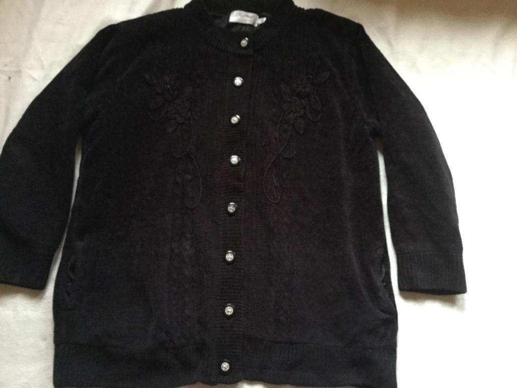 Ladies reflect velvet jacket black Sz XL used £4 good condition