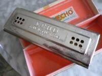 original m hohner echo harp doublesided harmonica(mouth organ)& original box,amazing tone,lovely..