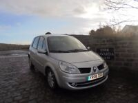 Renault Scenic Dynamic VVT Automatic In Silver, 2008 08 Reg, One Owner /Supply Dealer, Genuine Miles