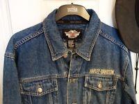 Harley Davidson Denim Jacket and Harley Davidson Hat